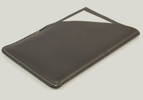 ipad Leder Abdeckung cover sleeve gray