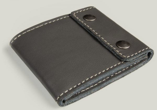 leather wallet Ledergeldbörse gray