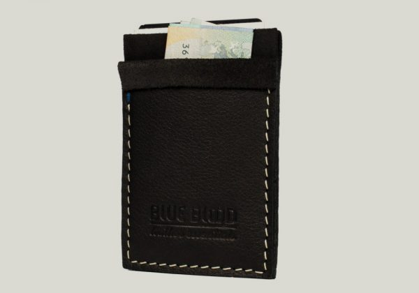 leather cardholder Kartenhalter schwarz black