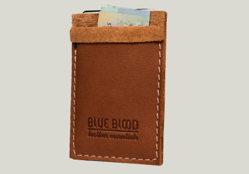 leather cardholder Kartenhalter brown braun