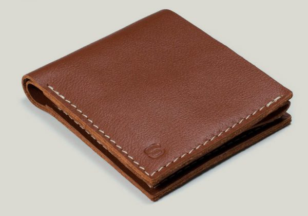 leather wallet omni Ledergeldbörse brown braun