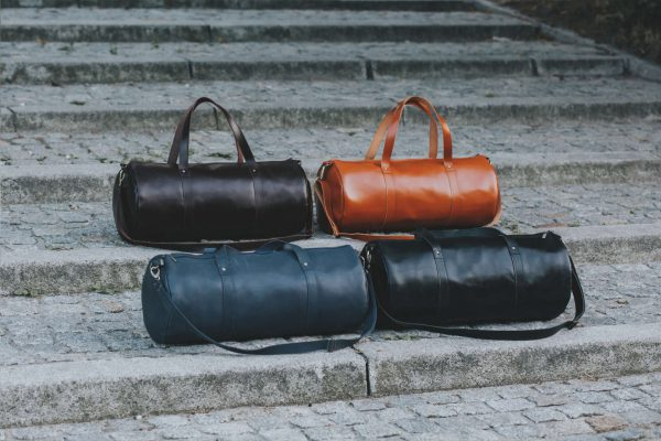 Barrel bag weekender bag leader leder