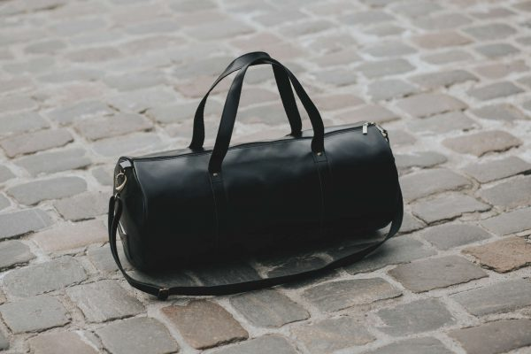 Barrel bag weekender bag leader leder schwarz black