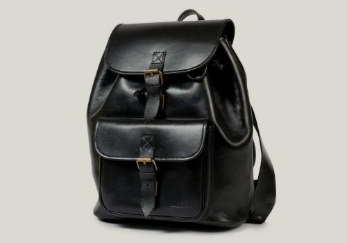 leather backpack rucksack leder black schwarz