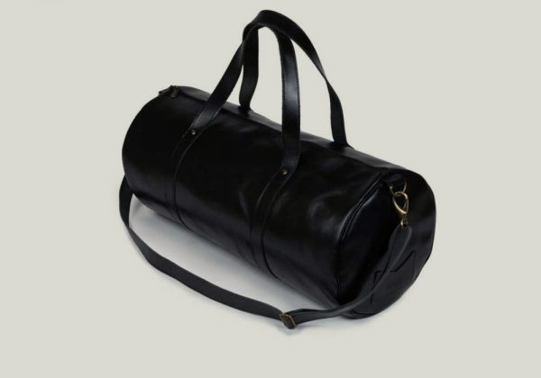 Barrel bag weekender bag leader leder black schwarz