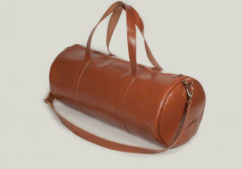Barrel bag weekender bag leader leder brown braun