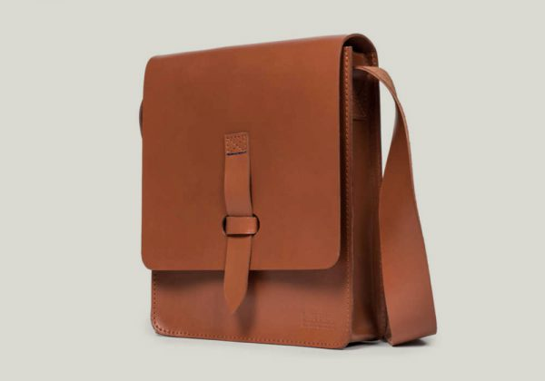 messenger bag Kuriertasche leather leder brown braun